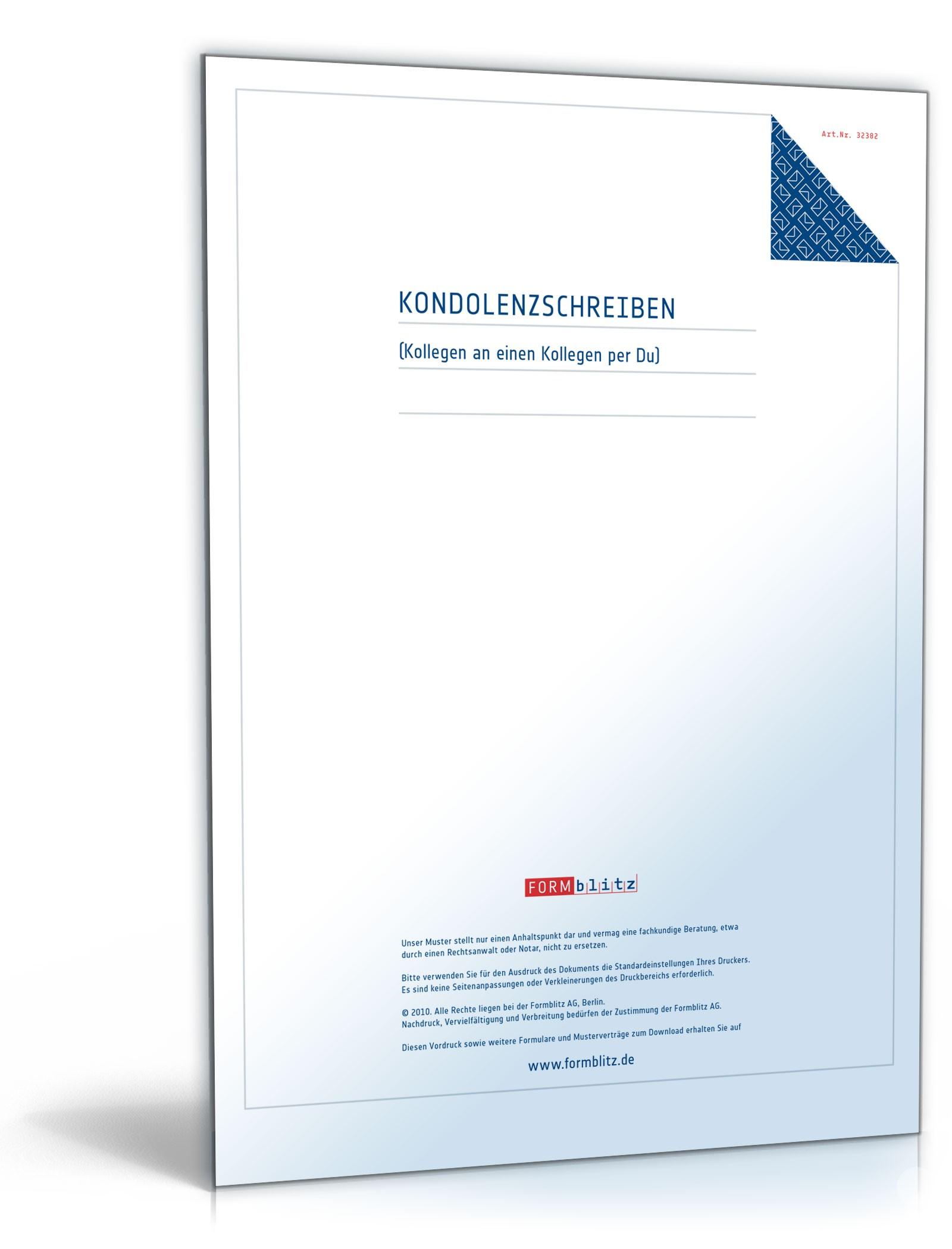 Musterbriefe Kondolenzschreiben : Kondolenzschreiben muster vorlage zum download