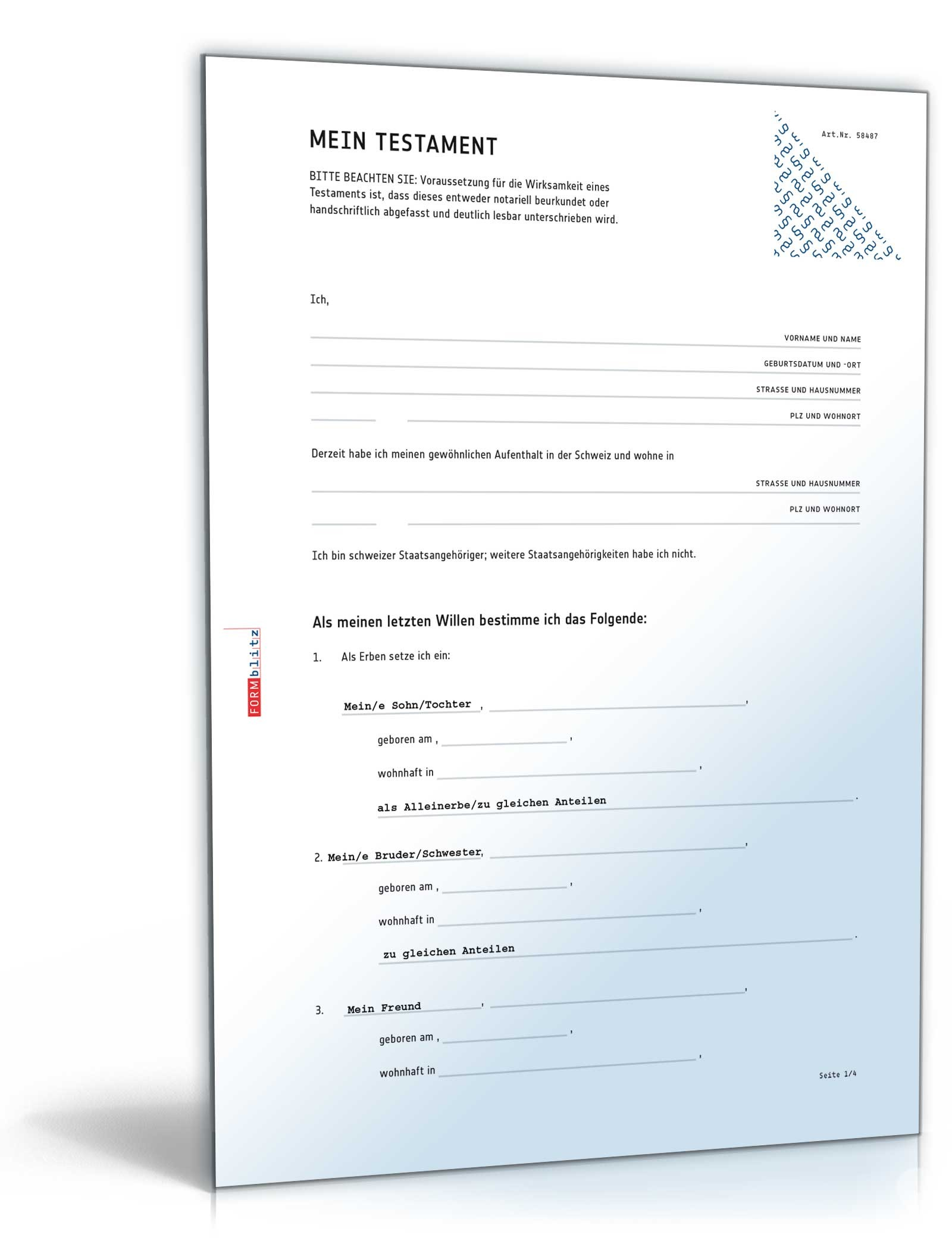 Digitales Testament (Schweiz) PDF