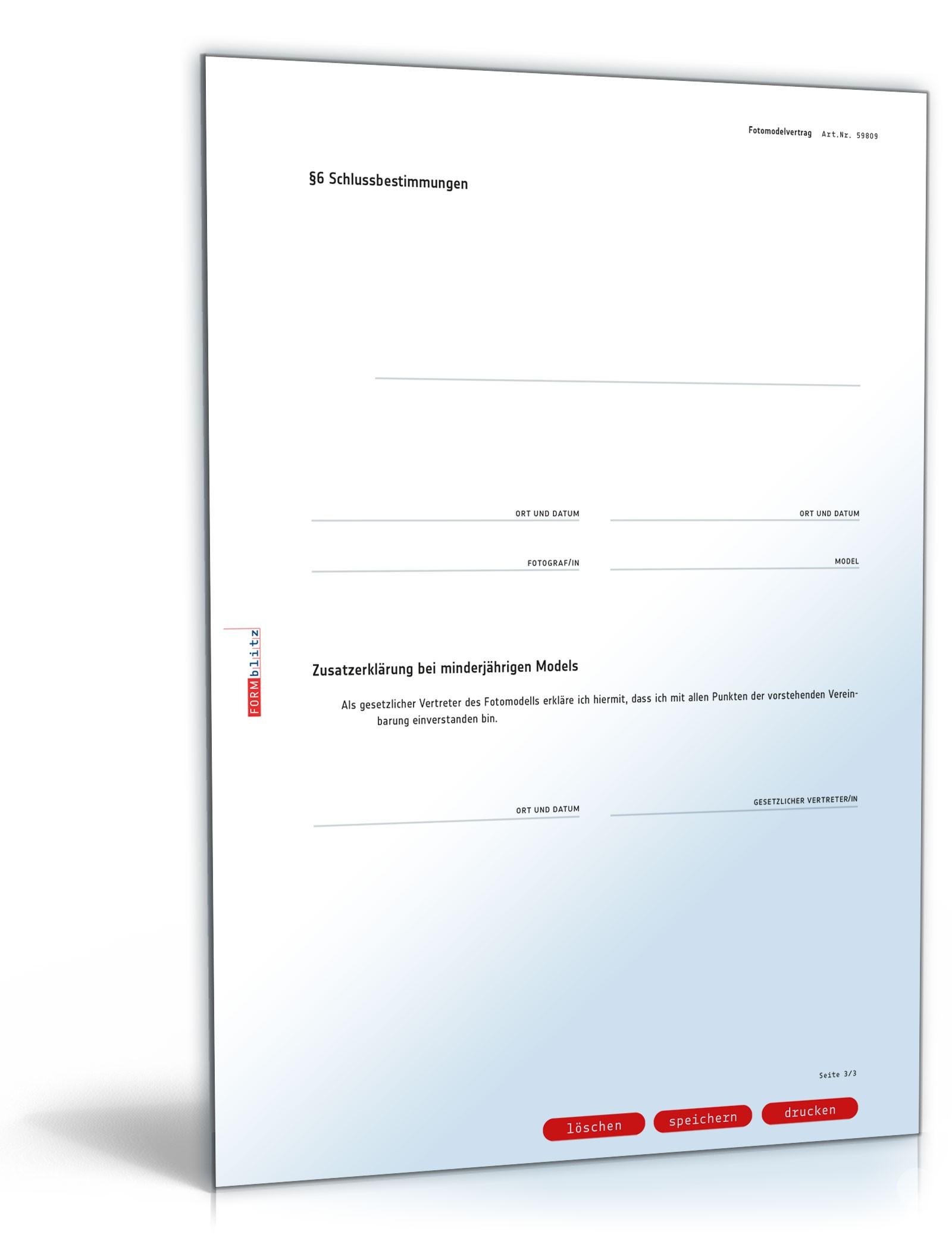 fotomodelvertrag pdf seite 03 - Tfp Vertrag Muster