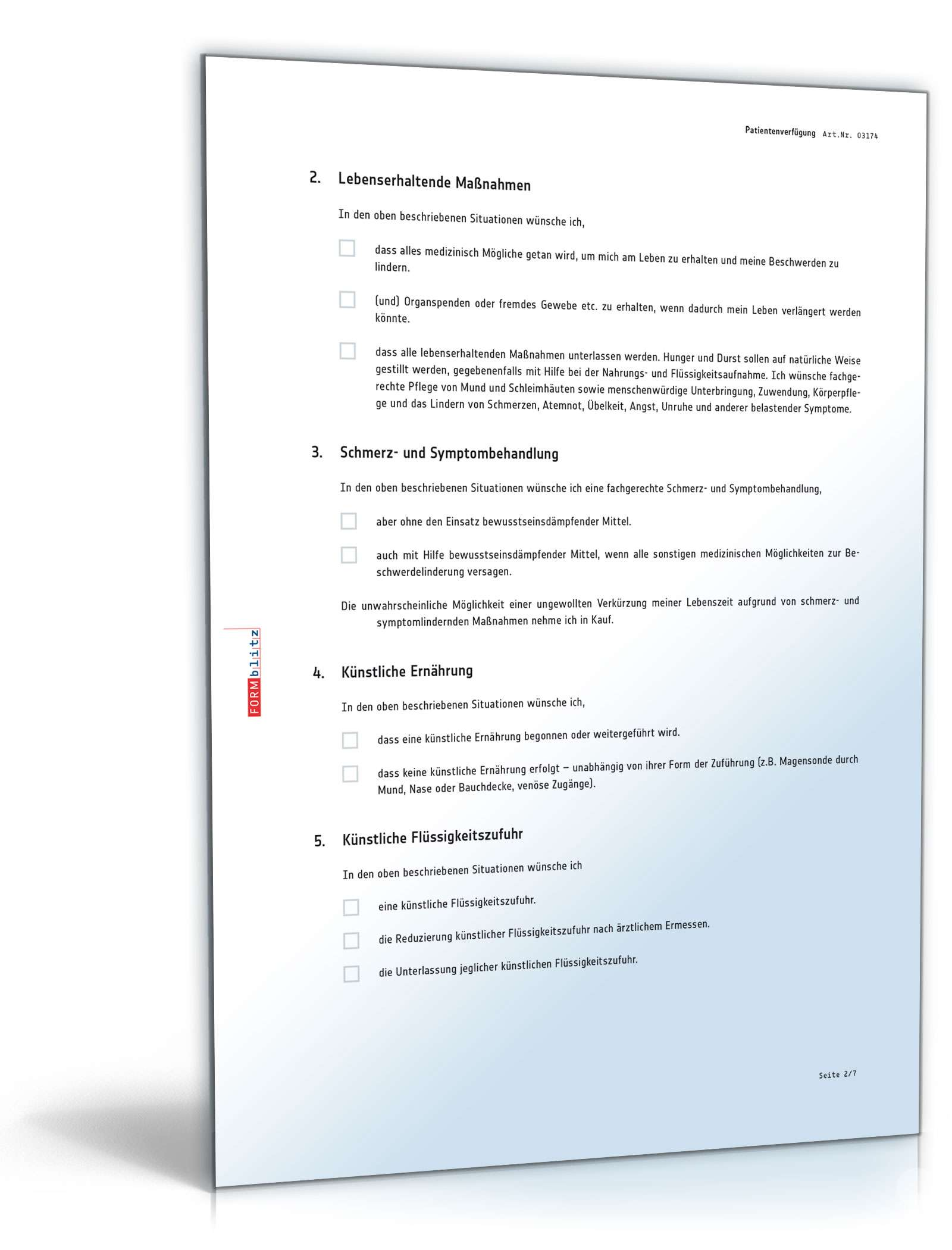 pdf seite 2 - Muster Patientenverfugung