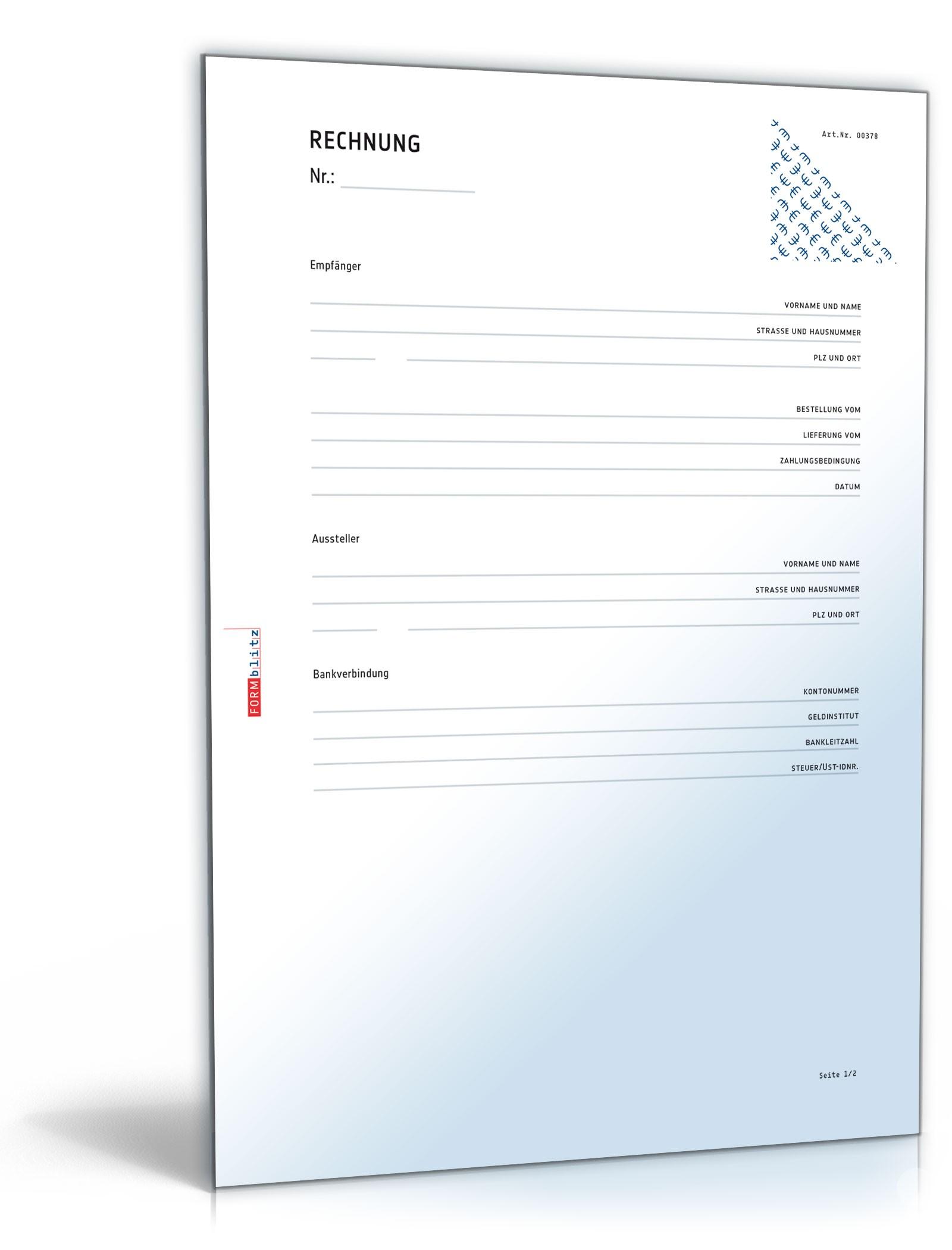 Rechnung Dokument zum Download