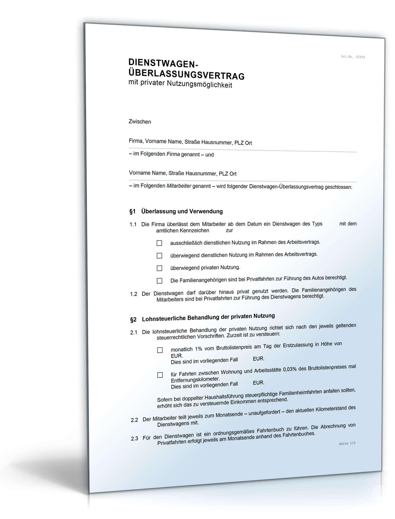 Smartphone-Überlassungsvertrag Dokument zum Download