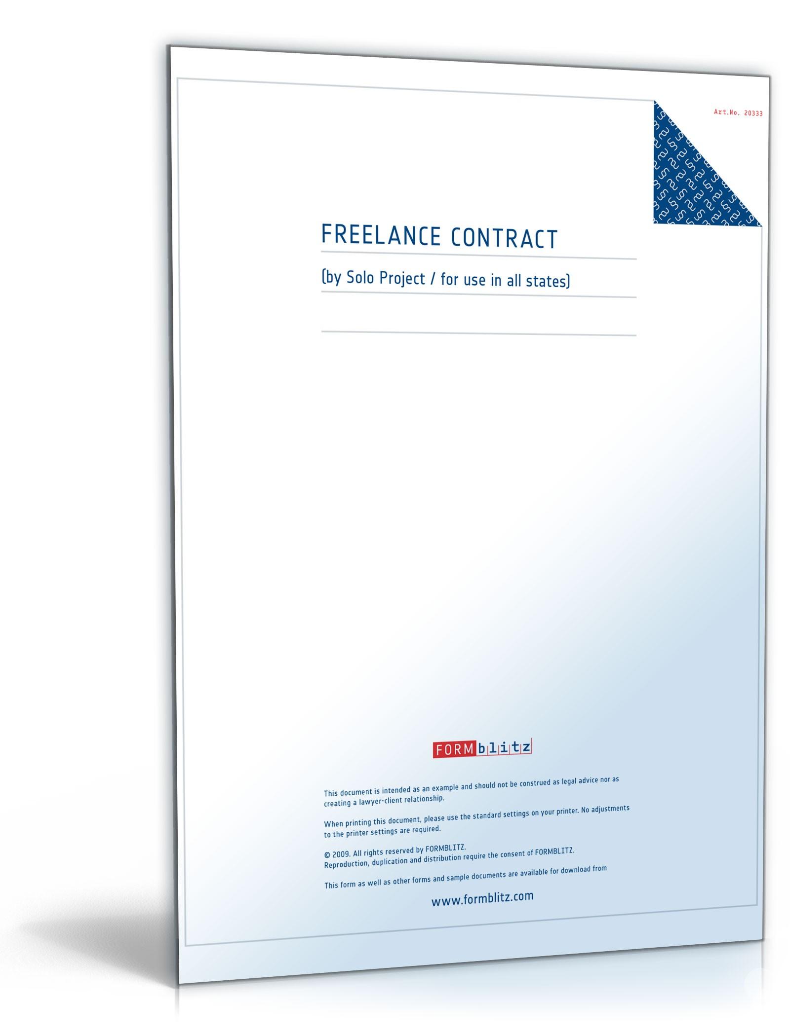 Freier Mitarbeitervertrag Auf Englisch Muster Vorlage Zum Download