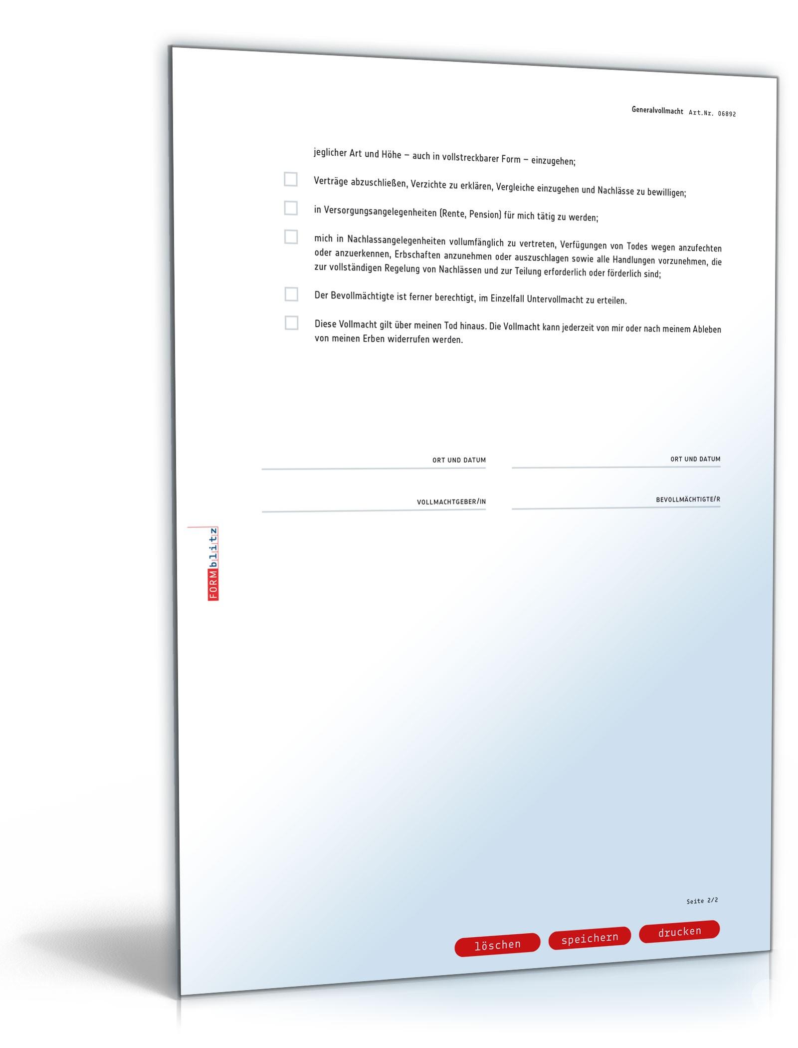 pdf seite 2 - Generalvollmacht Muster