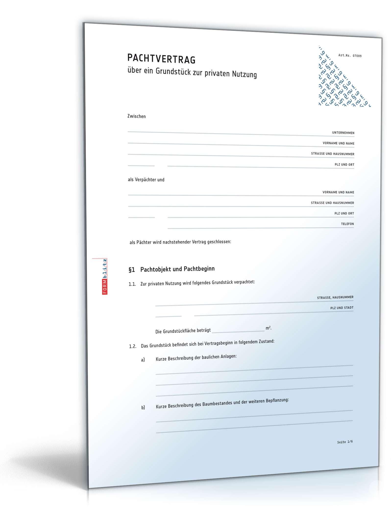 Landpachtvertrag Fur Nutzflachen Muster Zum Download 12