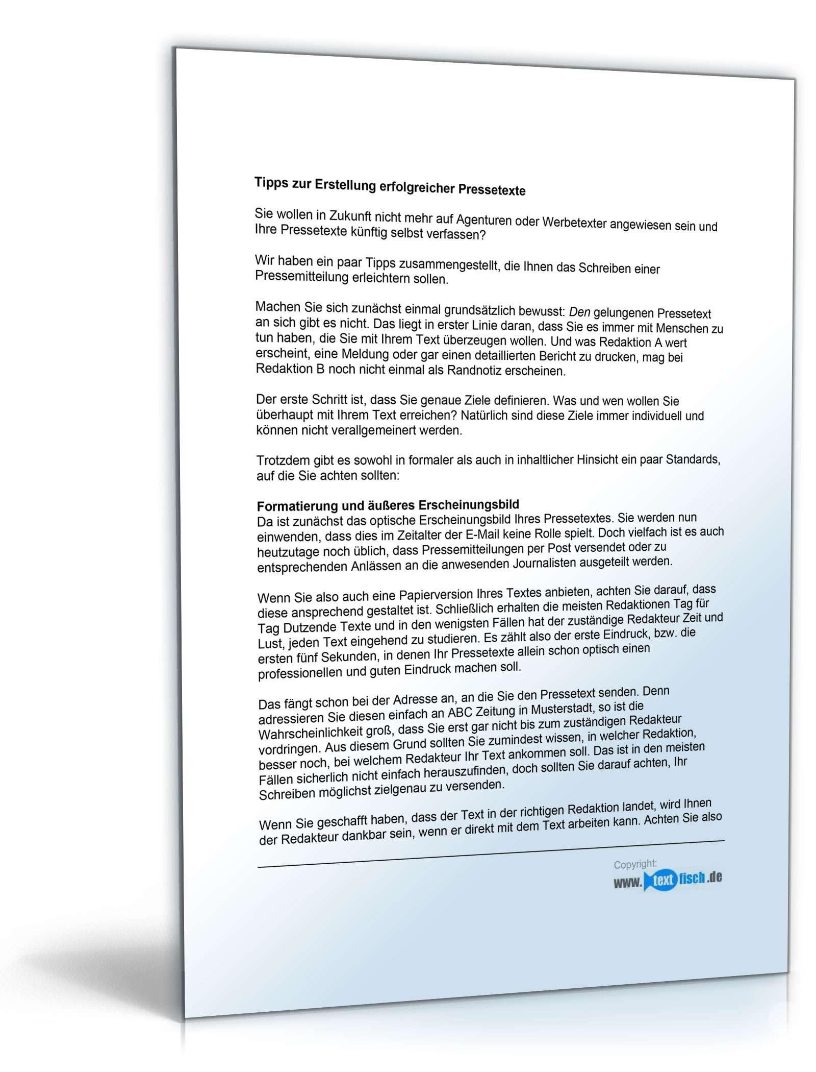 Pressemitteilung Firmenjubiläum (Supermarkt)- Muster zum Download